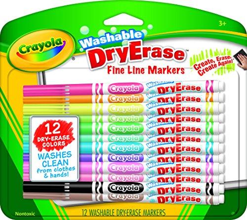 Crayola; Washable Dry-Erase Markers; Art Tools; 12 ct