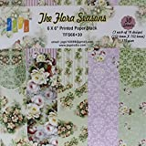 The Flora Seasons Design Craft Papers, Size 6x6 Inch - 10 Designs 30 Sheets - For Card Making And Scrapbooking