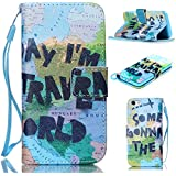 6S Plus Case,iPhone 6S Plus Case,With Strap Wristlet Slim PU Leather Case Wallet Cases Magnetic Closure Case For... - B019C3GQ3A