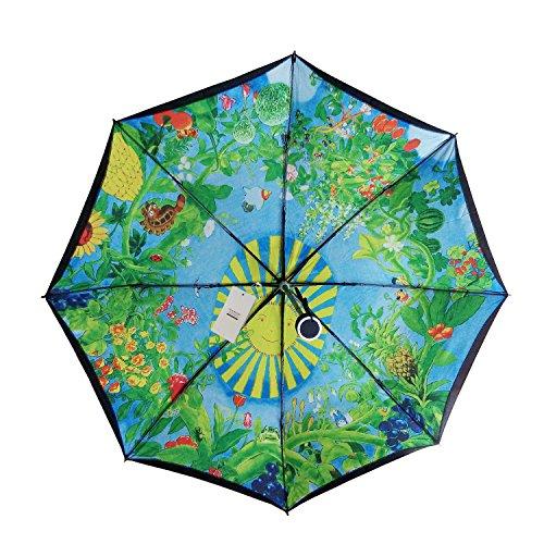 Seamand® Miyazaki Hayao Animation Totoro Strong Water-repellent Anti-uv Layer Folding Parasol Umbrella Sun Umbrella Uv Protection -Black Umbrella Cover