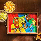 ExclusiveLane Puppet Art Form Inspired Hand Painted Canvas Tray - Serving Tray / Breakfats Tray / Kitchenware...