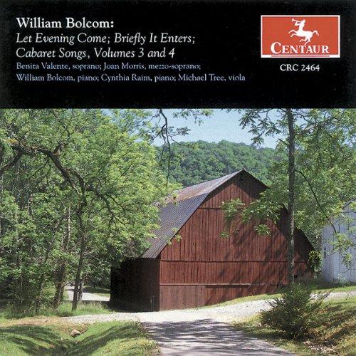 Bolcom - Cabaret Songs Vol 3 and 4 Audio CD