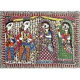 "Dolls Of India ""Rama Weds Sita"" Madhubani Folk Art On Paper - Unframed (76.20 X 55.88 Centimeters)"