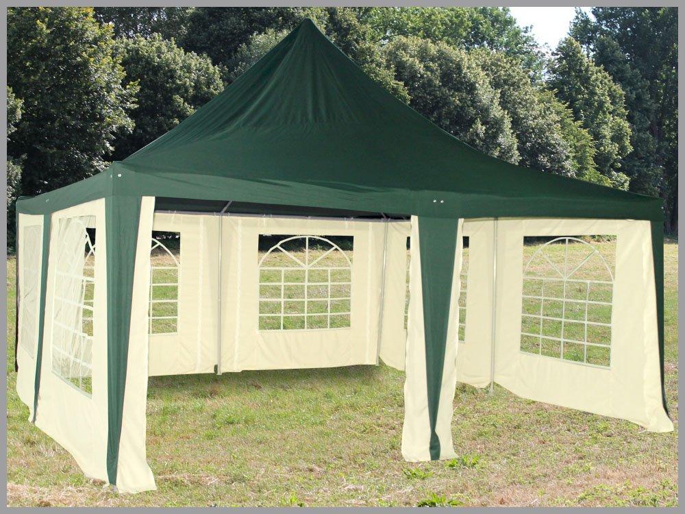 Pavillon 5x5m Arabica Polyester grün Partyzelt 5x5 Verkaufszelt wasserdicht