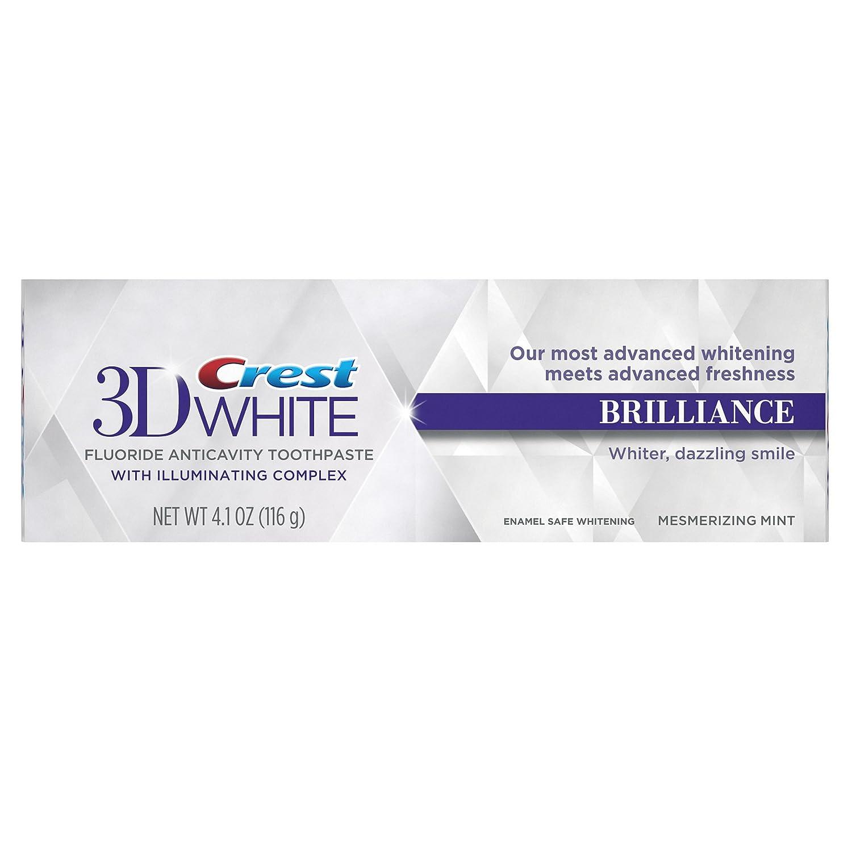 Crest 3D White Brilliance Mesmerizing Mint Flavor Toothpaste 4.1 Oz