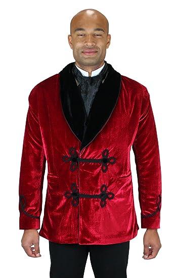 Victorian Mens Suits & Coats Historical Emporium Mens Vintage Velvet Smoking Jacket $129.95 AT vintagedancer.com