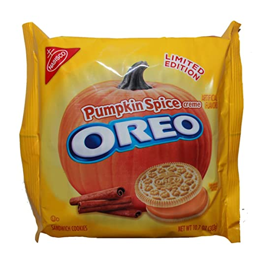 Pumpkin Spice Oreo Cookies Limited Edition Seasonal, 10.7 Ounce