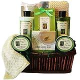 Art of Appreciation Gift Baskets Green Tea Zen Spa Bath and Body Set