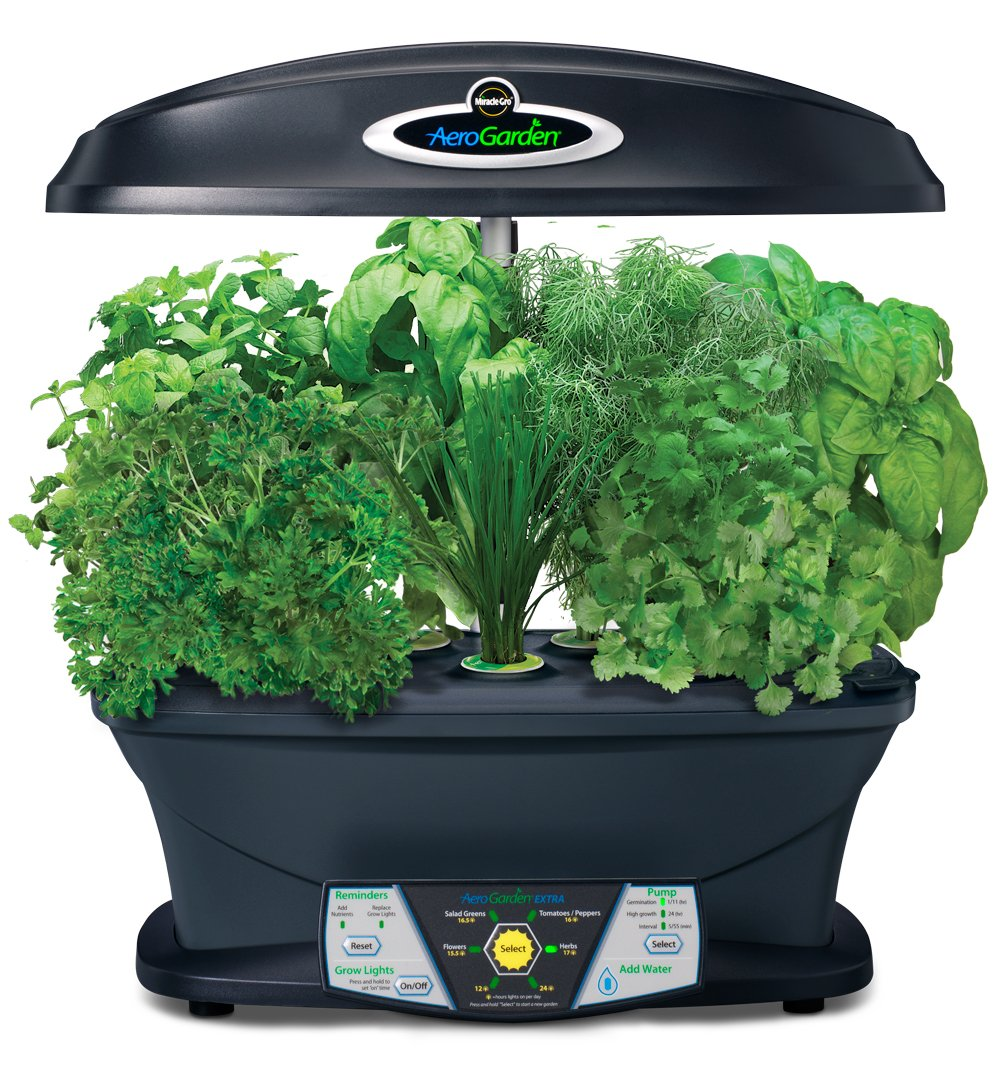 indoor herb garden kit miracle gro aerogarden indoor garden with gourmet 28782