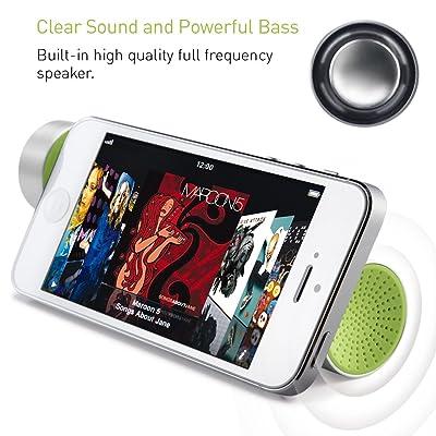X-Power - Altavoz portátil para teléfonos móviles, color verde
