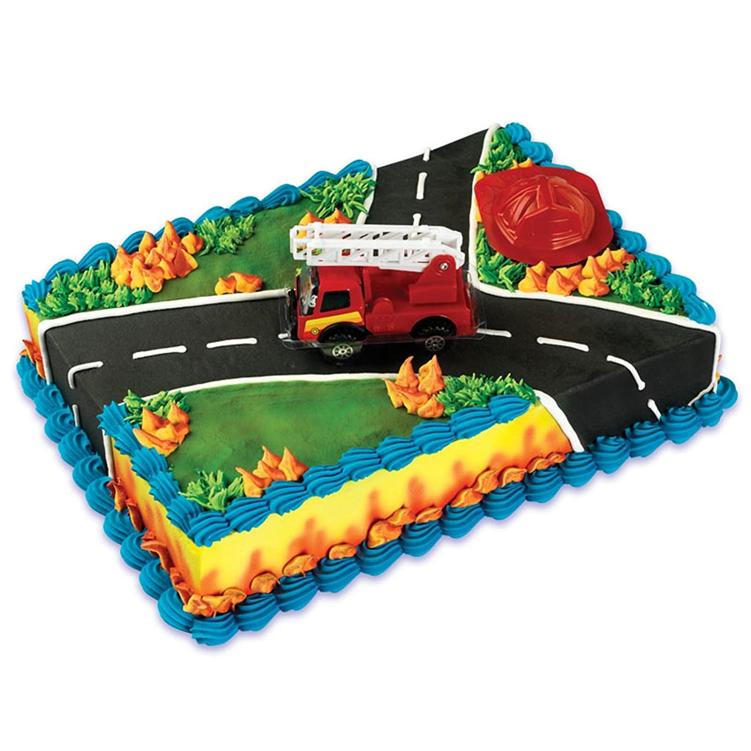 Fire Truck Rescue Cake Decoration Toppers Kit Ebay