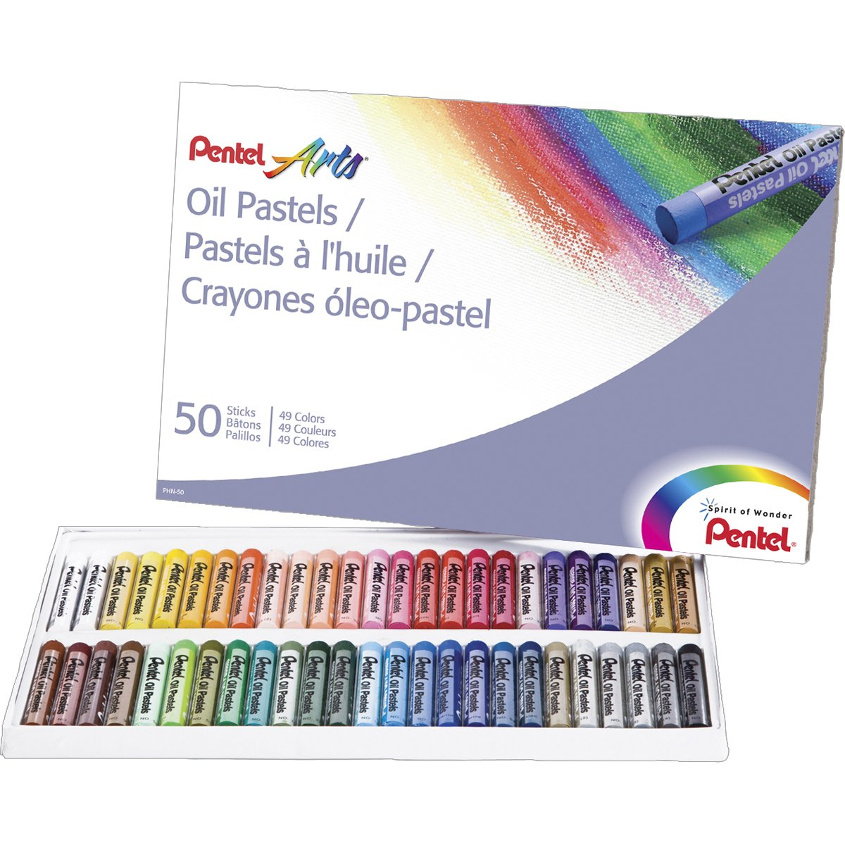Pentel Arts Oil Pastels, 50 Co...