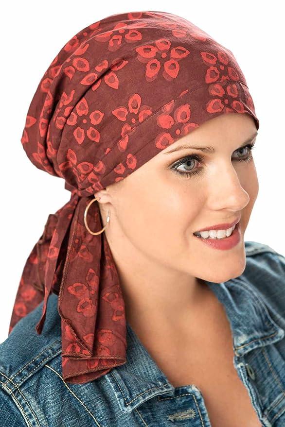 So Simple Scarf - Pre-Tied Head Scarves - 100% Cotton Cancer Scarfs for Chemotherapy, Chemo Scarves