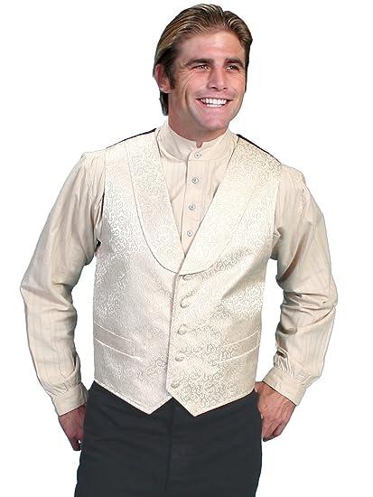 Victorian Men's Vests and Waistcoats Scroll Vest  AT vintagedancer.com