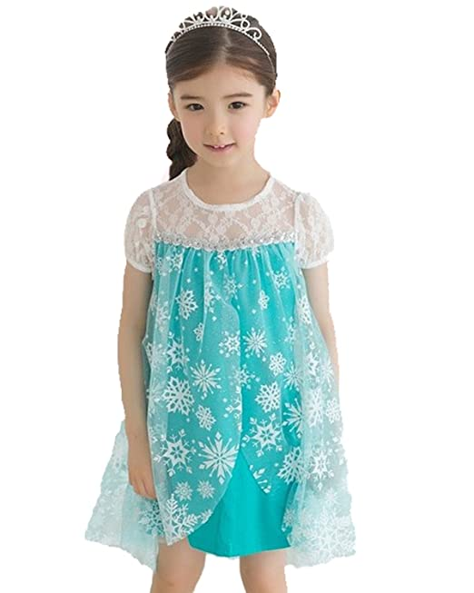 Frozen Dress Princess Elsa Gir...