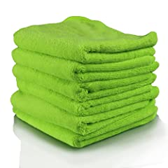 "Chemical Guys MIC_333_6G - El Gordo Professional Extra Thick Supra Microfiber Towels, Green 16.5"" x 16.5"" (Pack of 6)"