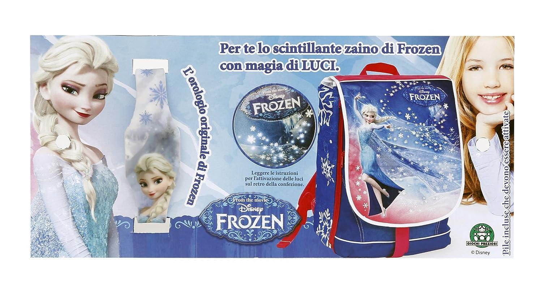 Frozen Zaino/Trolley Scuola, Estensibile, con Luci Ed Orologio in Omaggio
