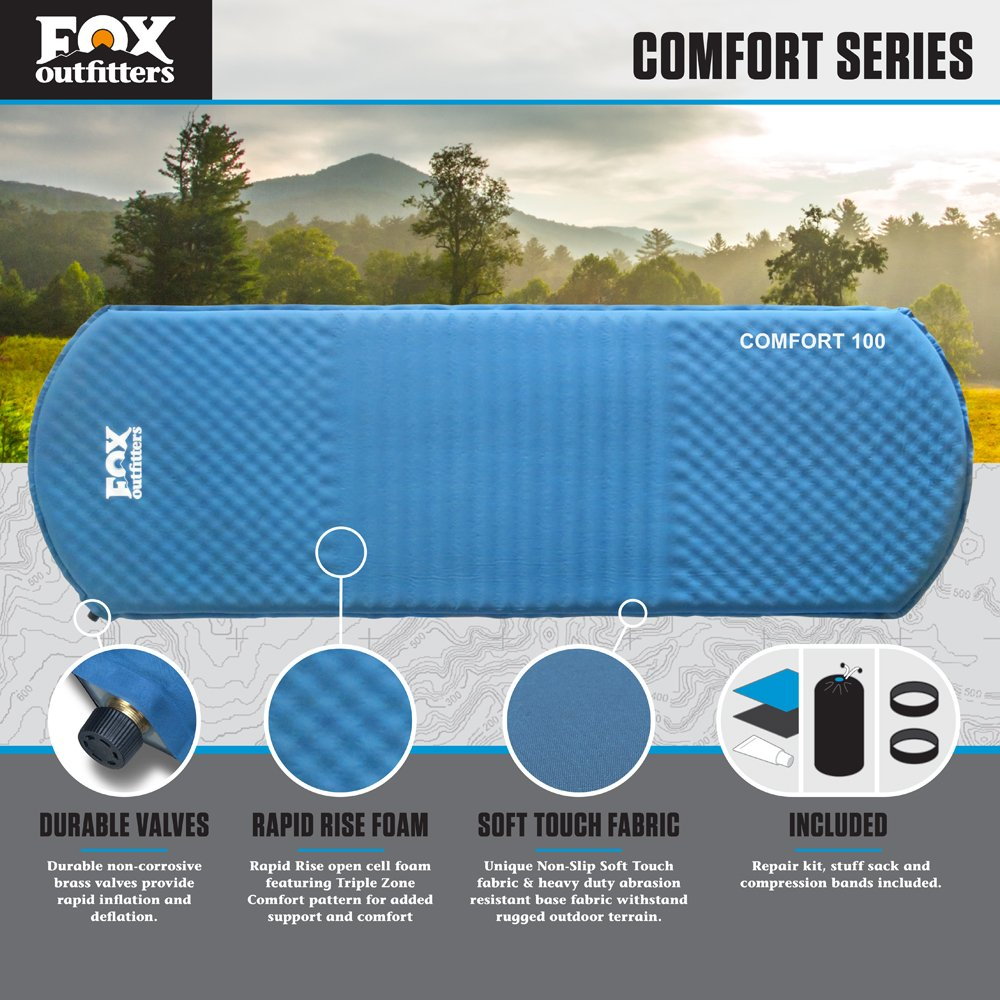 Fox Outfitters Comfort Series Self Inflating Camp Pad