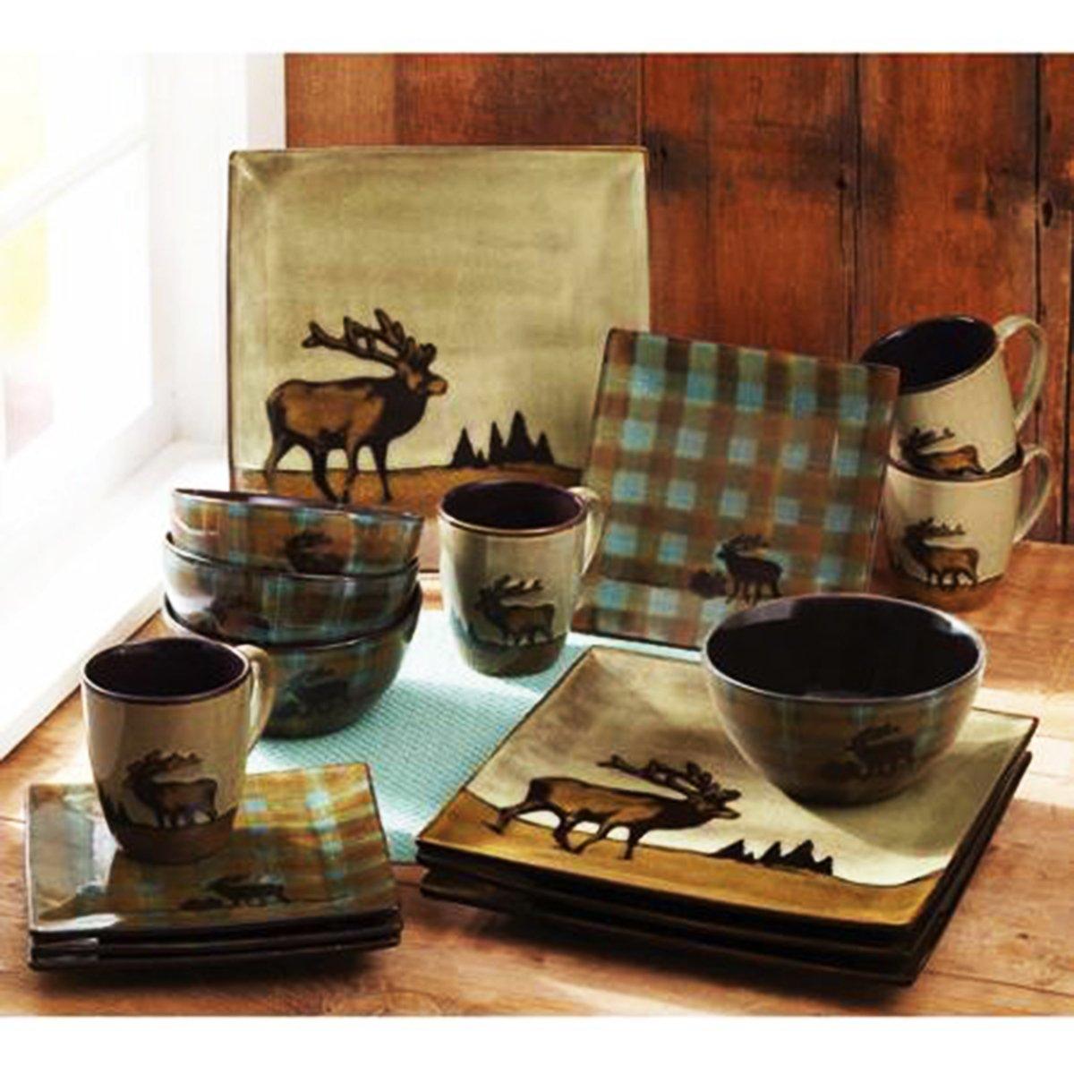 Roaming Elk Stoneware Dinnerware Set