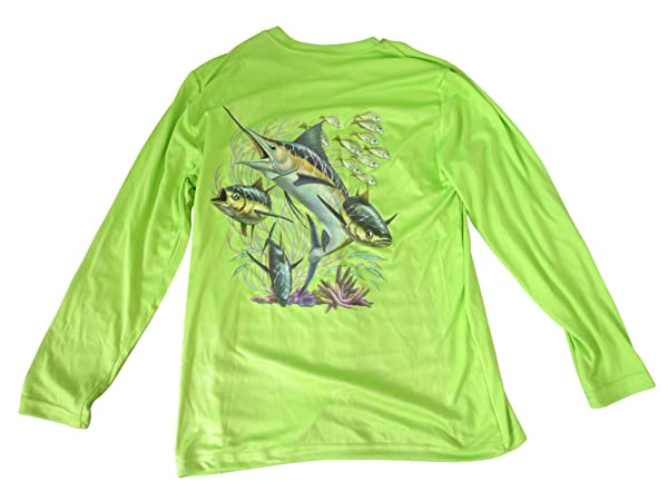 All-American Fishing Youth's 30+ UPF Dri Fit Shirt - UV Protection and Comfort