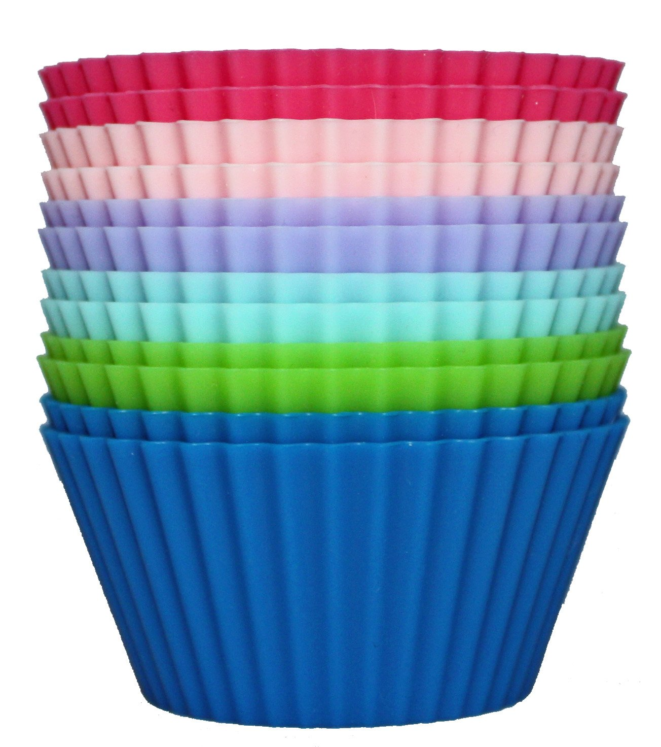 Silicone Cupcake Liners 1 doz BPA Free just $8.37 with Amazon Prime Shipping