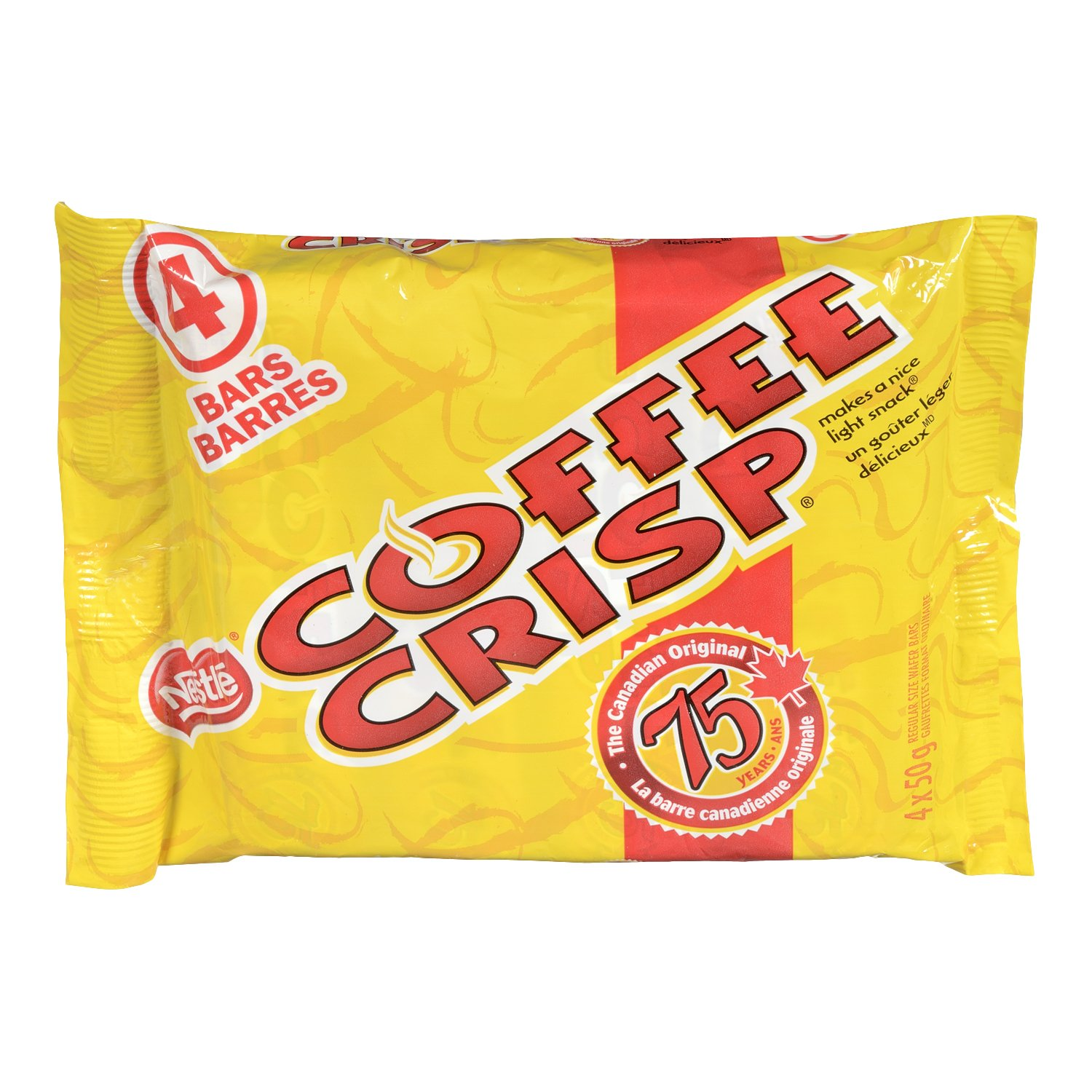 Canada Candy Coffee Crisp Chocolate Bar 4 x 50gram Bars. Imported from Canada.