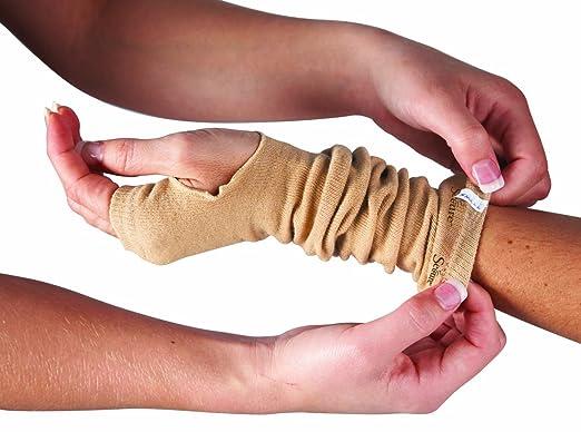 """SecureSleeves® Geri Skin Sleeves for Arms - Protects Sensitive Skin - One Pair - Medium - Brown - 15.5""""-16"""" x 3.5"""""""