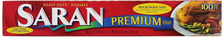 Saran Premium Wrap, 100-Square Foot Rolls (Pack of 12)