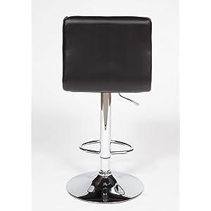 2 Modern Adjustable Leather Swivel Pub Style Bar Stools / Barstools Black