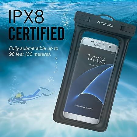 Floating Waterproof Case, MoKo Universal Waterproof Case With Armband & Neck Strap - IPX8 Certified