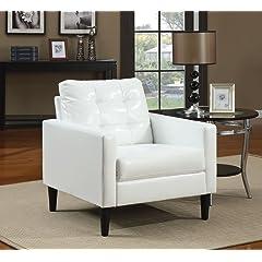 Acme 59048 Balin Accent Chair White Polyurethane Finish