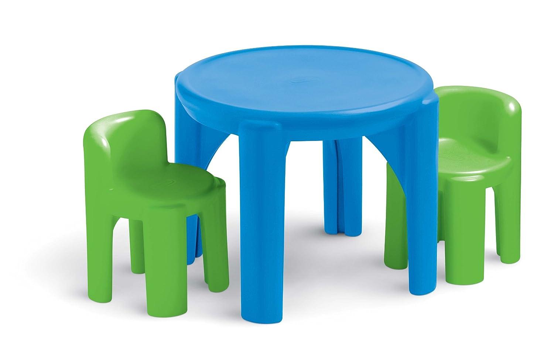 Compra Mesa Redonda Y 2 Sillas Plastico Infantiles Little Tikes  # Muebles Little Tikes