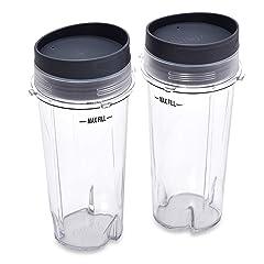 Ninja Single Serve Cup Set, 16-Ounce for BL770 BL780 BL660 All Pro 4 Tab Blenders