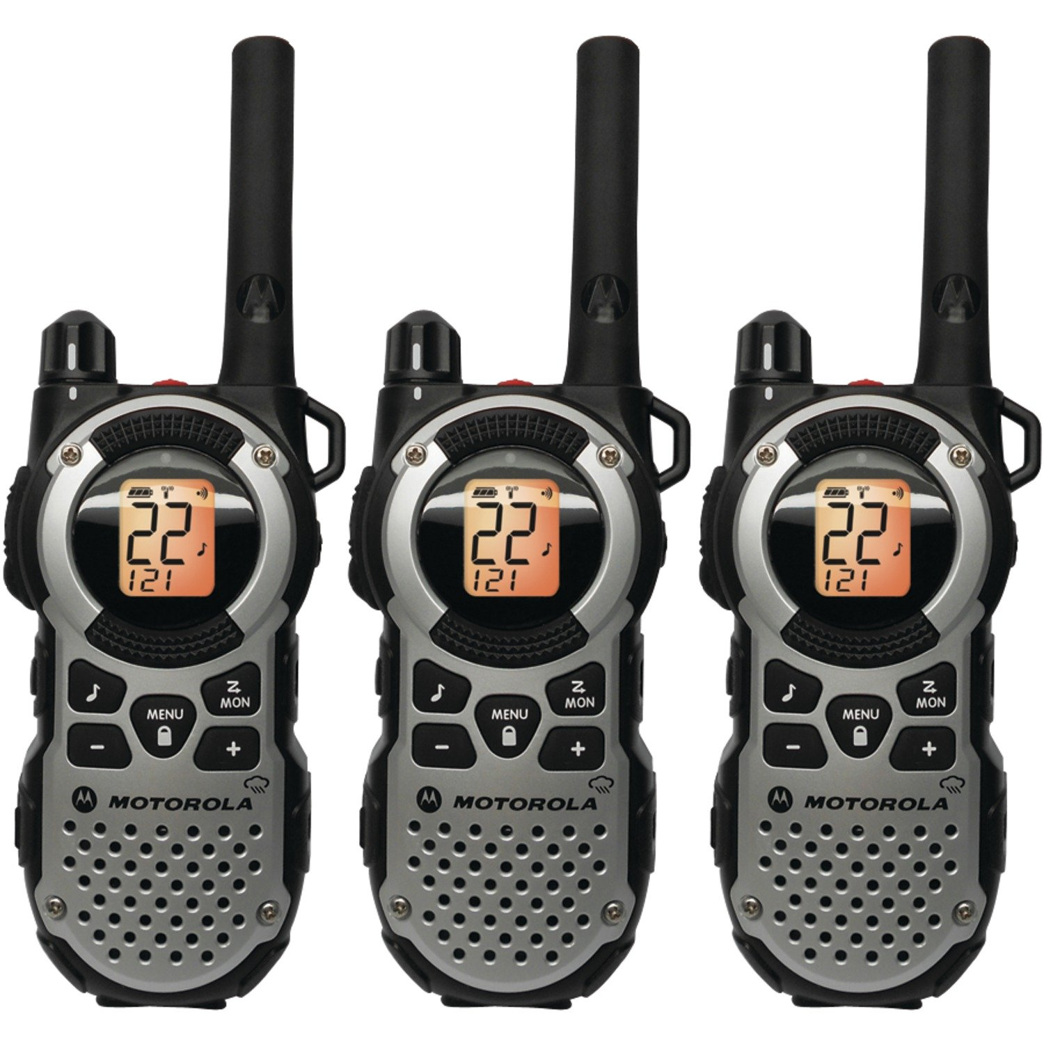 Motorola-MT352TPR-FRS-Weatherproof-Two-Way-35-Mile-Radio-Triple-Pack-Silver