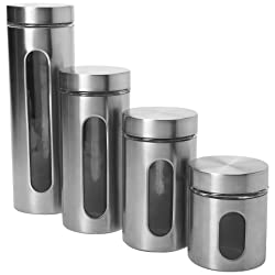kitchen canister sets stainless steel stainless steel canister set stylish and functional 24618