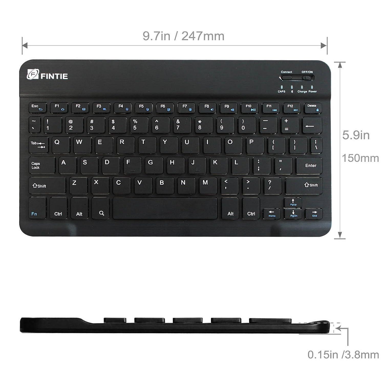 Android Bluetooth Keyboard Greek: Slim (4mm) Wireless Bluetooth Keyboard For Android Tablet Samsung / Google