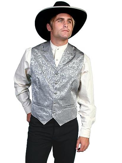 Victorian Men's Vests and Waistcoats Floral Single Breasted Vest  AT vintagedancer.com