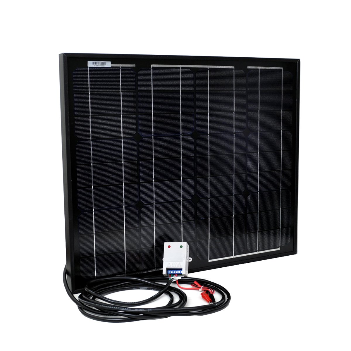 Instapark NEW All Black 30W Mono-crystalline Solar Panel With a 12V solar charge controller