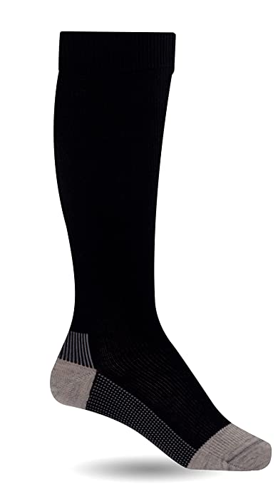 Compression Support Socks for Men & Women by AprilTex ? Promote Better Blood Circulation & Reduce Leg Pain & Swelling ? Prevent Varicose Veins ? Made of 60% Natural combed cotton ? Perfect for Pregnancy, Travel, Flights, Nurses, Athletes & More ? Plus Free Guide to Healthy Legs ? size M, Black