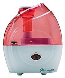 PureGuardian H900P 10-Hour Nursery Cool Mist Humidifier, Pink