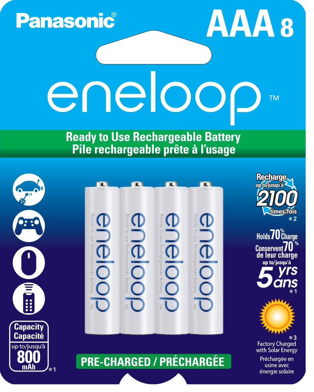 eneloop Rechargeable AAA Batteries (8-Pack)