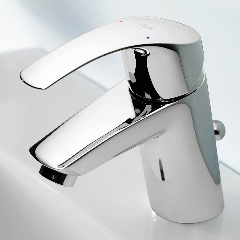 GROHE Eurosmart Waschtischarmatur mit Zugstange, Standard-Auslauf 33265002 von Grohe