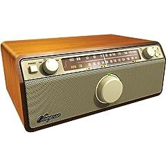 Sangean WR-12 AM/FM Analog Wooden Cabinet Receiver