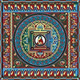 Tallenge - Thanka - A Tibetan Buddhist Painting - Small Size Unframed Rolled Digital Art Print On Photographic Paper For Home And Office Décor (12x12 Inches)