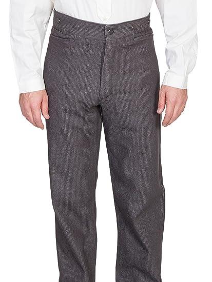 Steampunk Pants Mens Raised Dobby Stripe Pants $84.00 AT vintagedancer.com