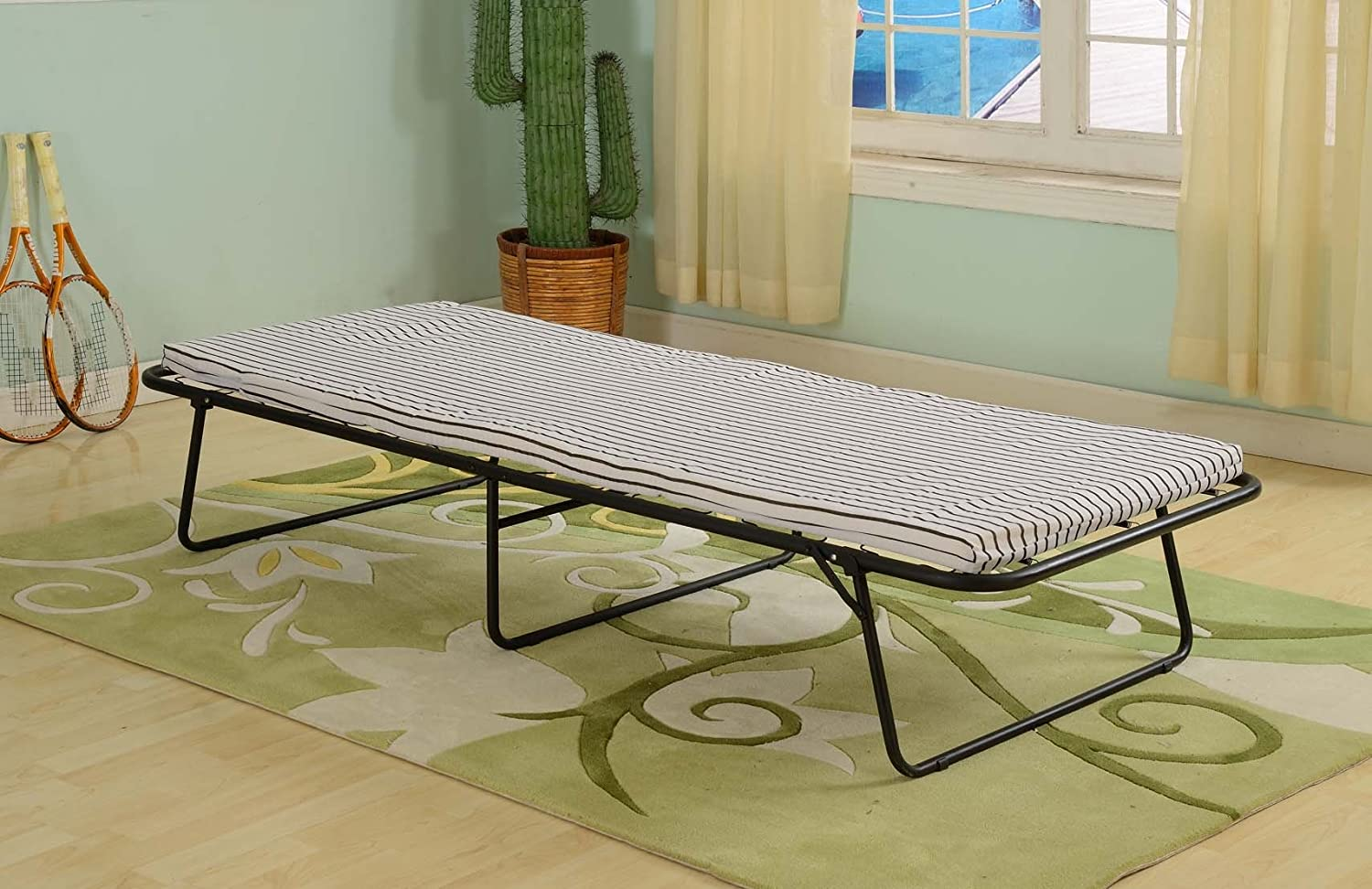 Kings Brand Metal Folding Rollaway Guest Bed Frame With ...
