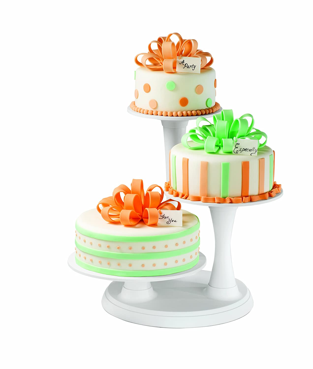 decorative cake stands for wedding cakes 2 wilton 3 tier pillar cakes mini muffins appetizers stand 3451