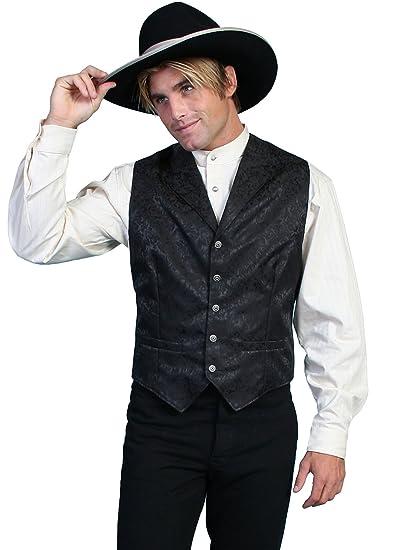Victorian Men's Vests and Waistcoats Silk Floral Single Breasted Vest  AT vintagedancer.com