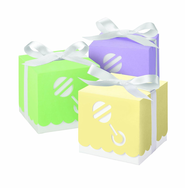 Wilton 25 pcs square rattle party favors baby shower occasion celebrations boxes ebay - Wilton baby shower favors ...
