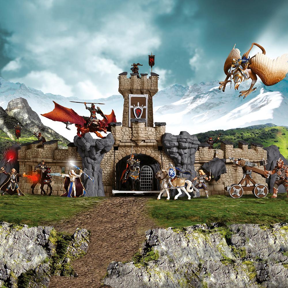 Die große Ritterburg ist der Mittelpunkt der Ritterwelt.